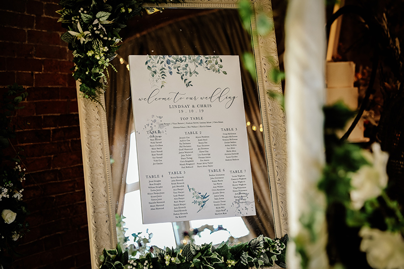 Eucalyptus Wedding Stationery, Wedding Table Plan, Seating Plan, Wedding Stationery, Wedding Stationery North Lincolnshire, Wedding Photographer North Lincolnshire, Wedding Photography