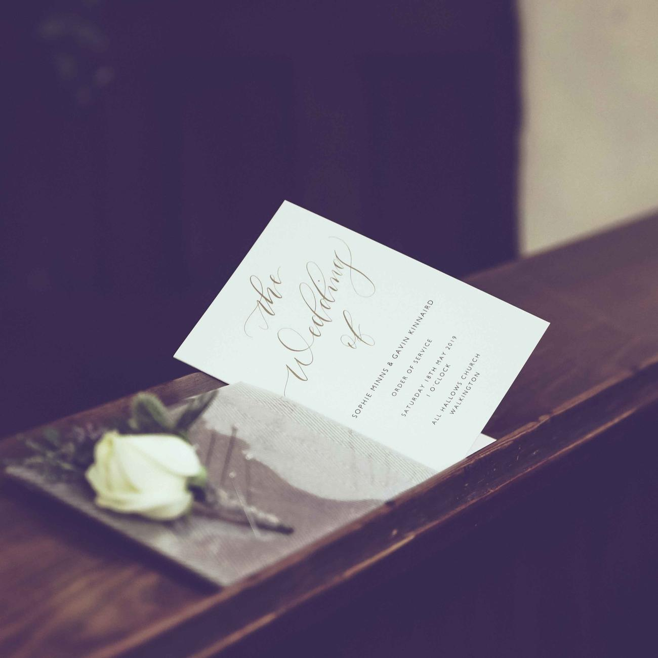 Wedding Photographer and Wedding Stationery Designer in North Lincolnshire and UK