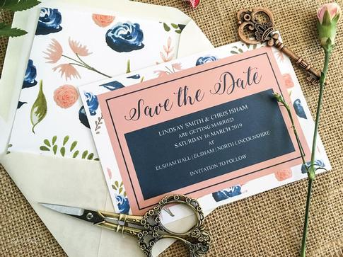 Custom wedding stationery designer UK